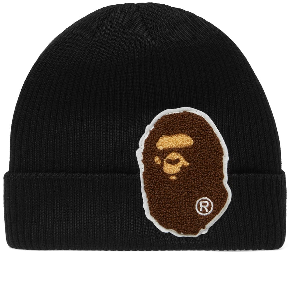 Bape Big Ape Head Knit Beanie - Black 880b14a82be