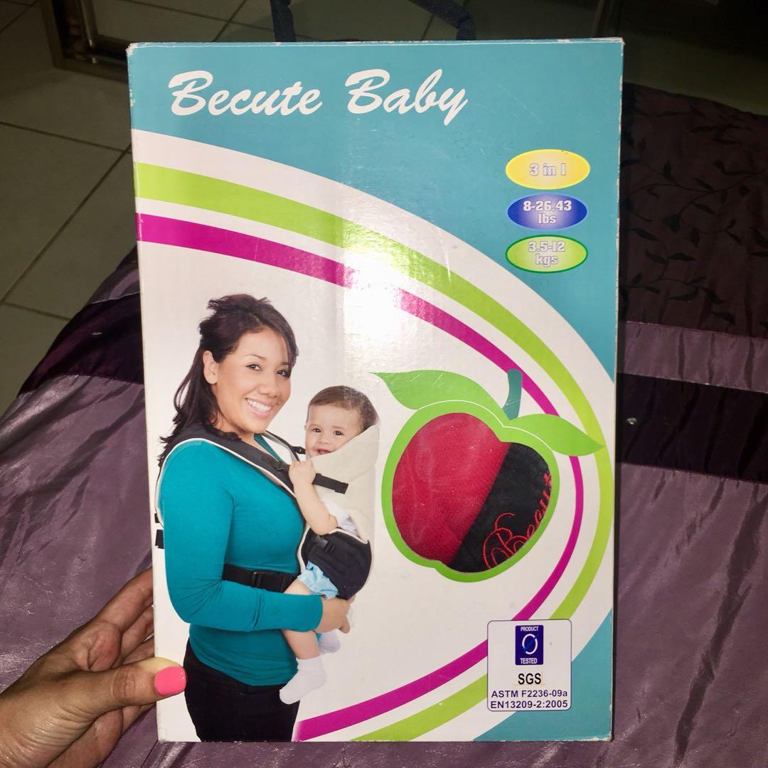 Becute Baby Carrier - Black/Red - BRAND NEW!