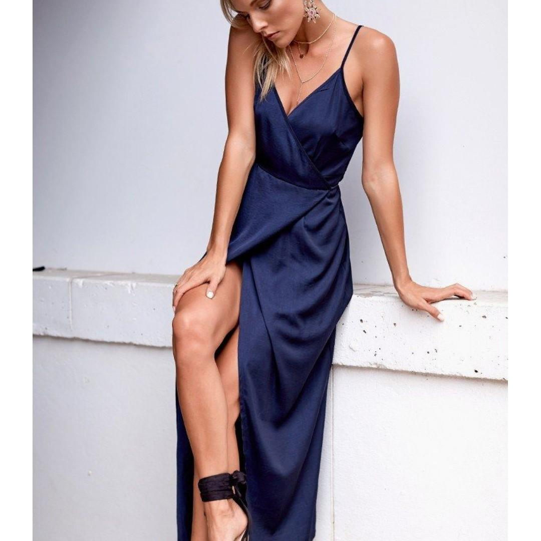 Beginning Boutique Rydges Maxi Dress Midnight Size Small