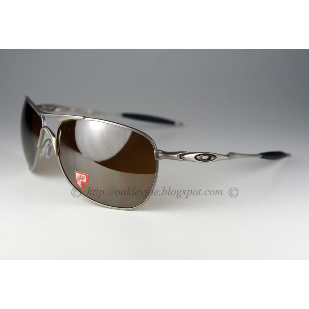c3e38409a49 BNIB Oakley Crosshair titanium + tungsten iridium polarized oo4060 ...