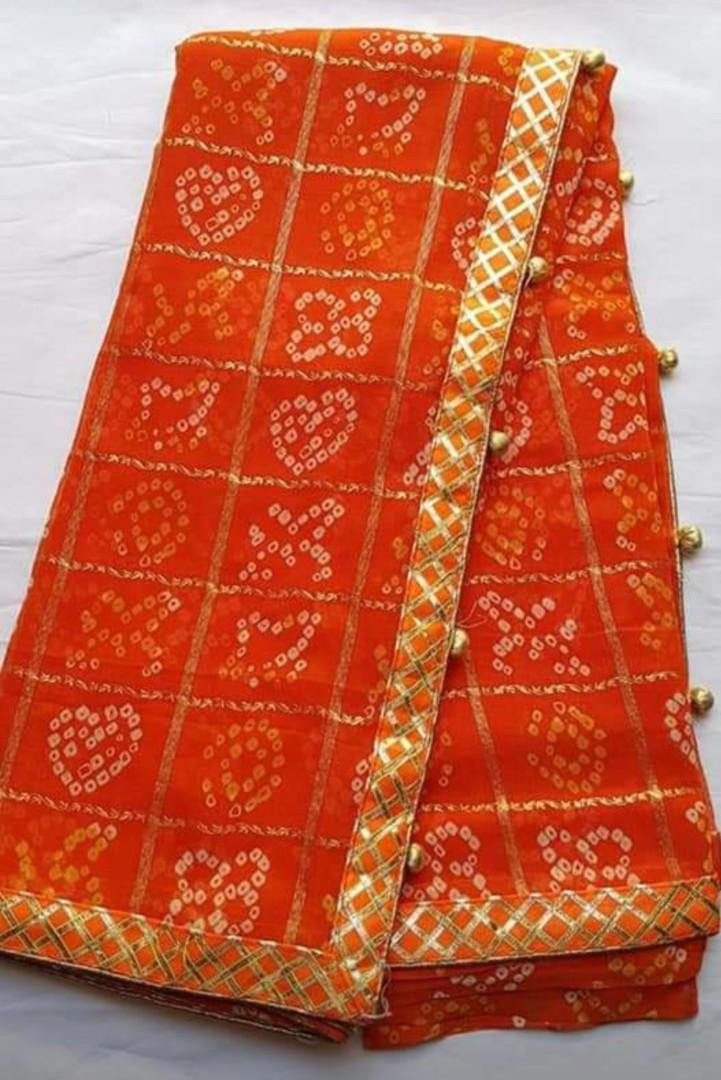 Brand New Indian Bandhej Ghat Chola Zari Border Party Wedding Wear Designer Saree
