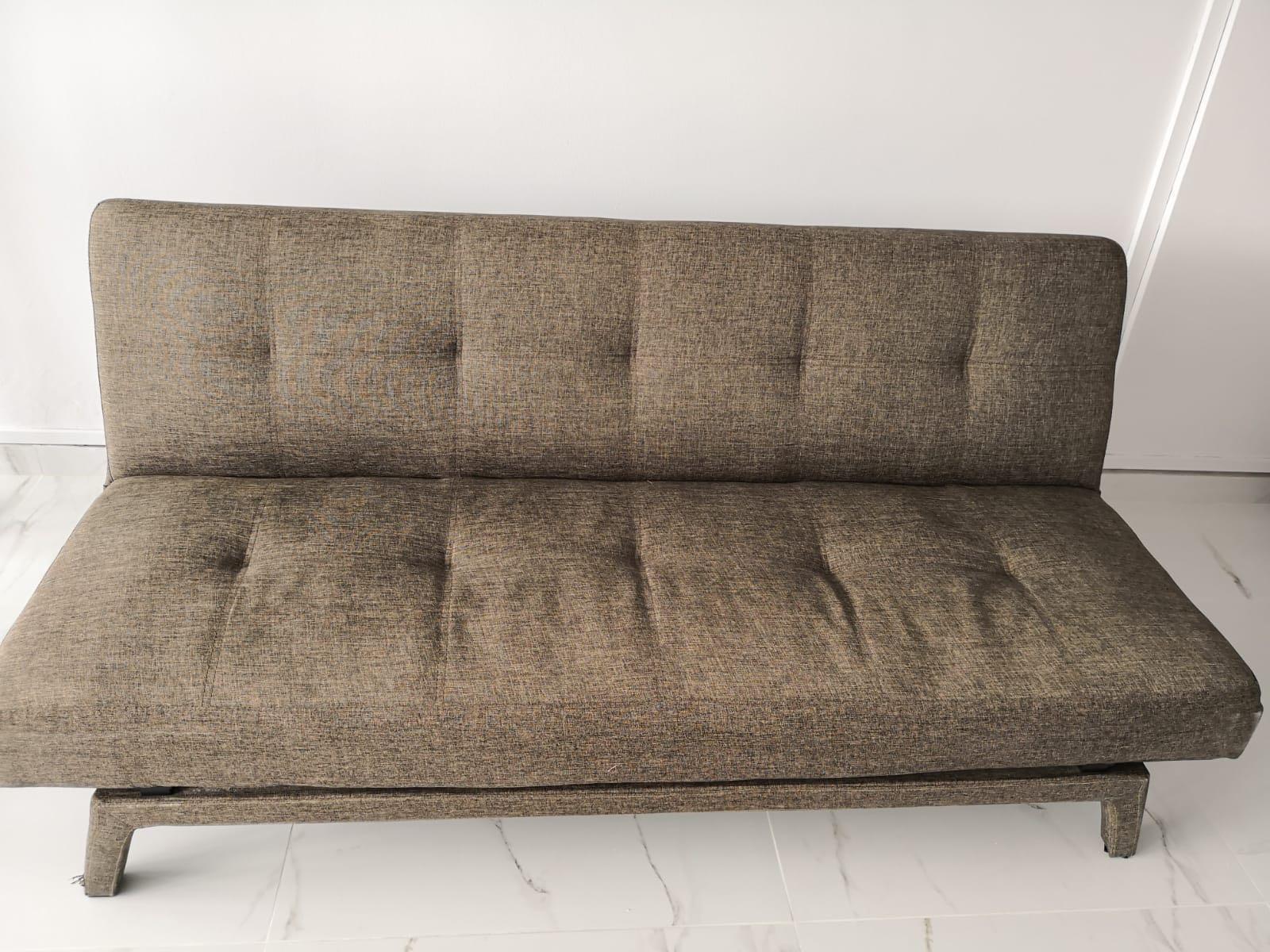 Brown Tweed Fabric Sofa Bed Furniture Sofas On Carou