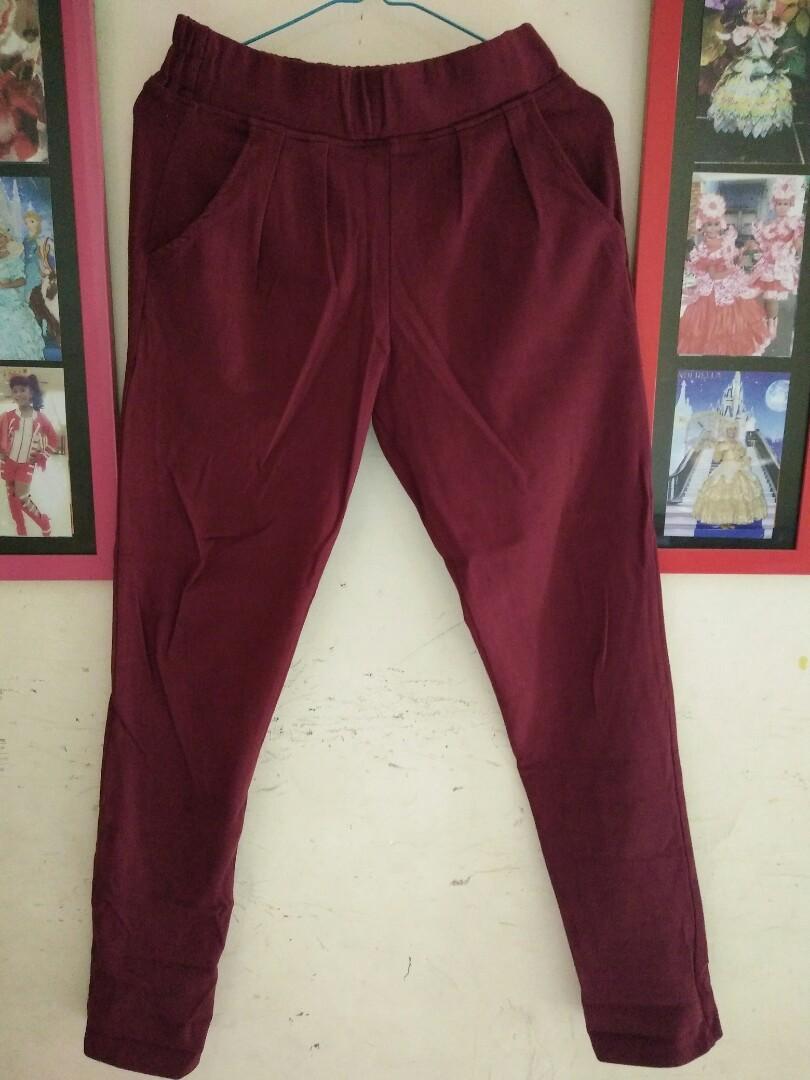 Celana Bahan Kaos Tebal Semi Legging Bahan Tebal Ya Fesyen Wanita Pakaian Wanita Lainnya Di Carousell