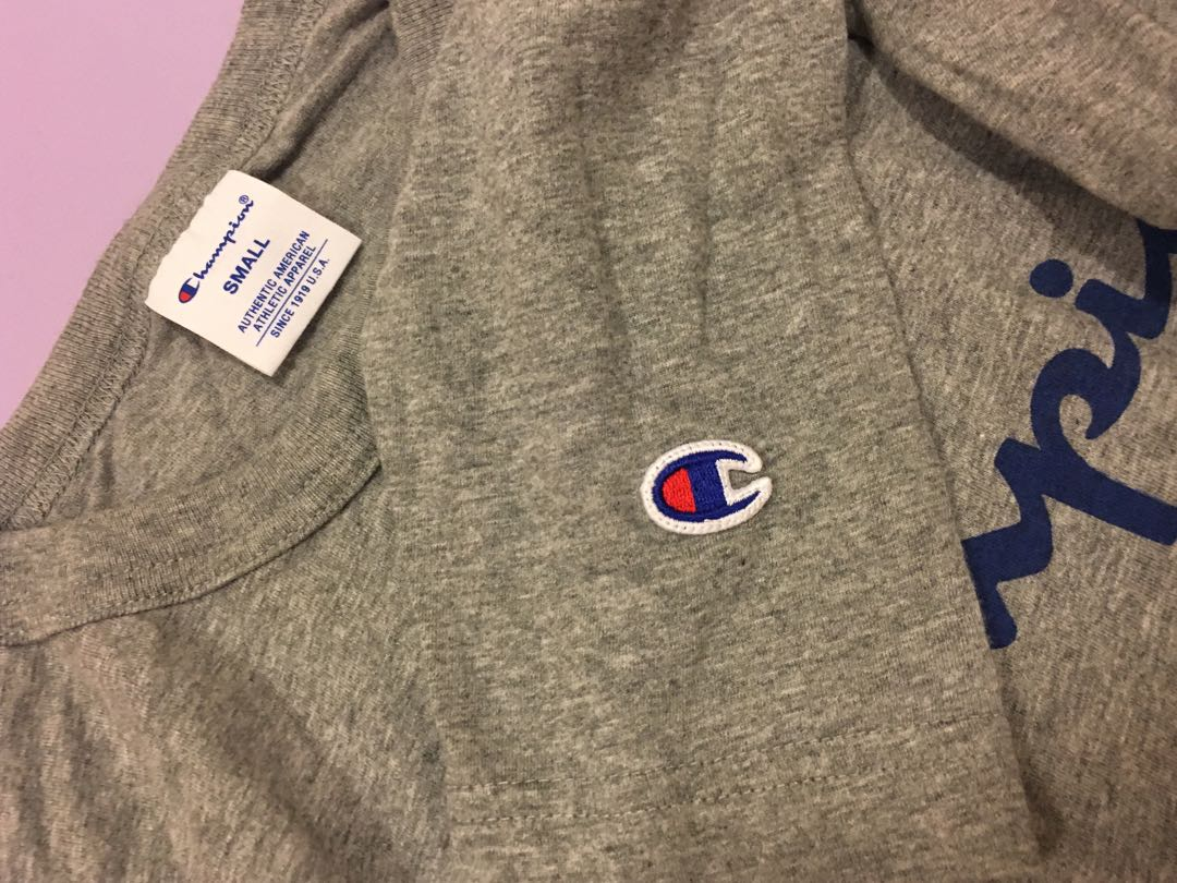 971225f8130f Champion long sleeve tee, Men's Fashion, Clothes, Tops on Carousell