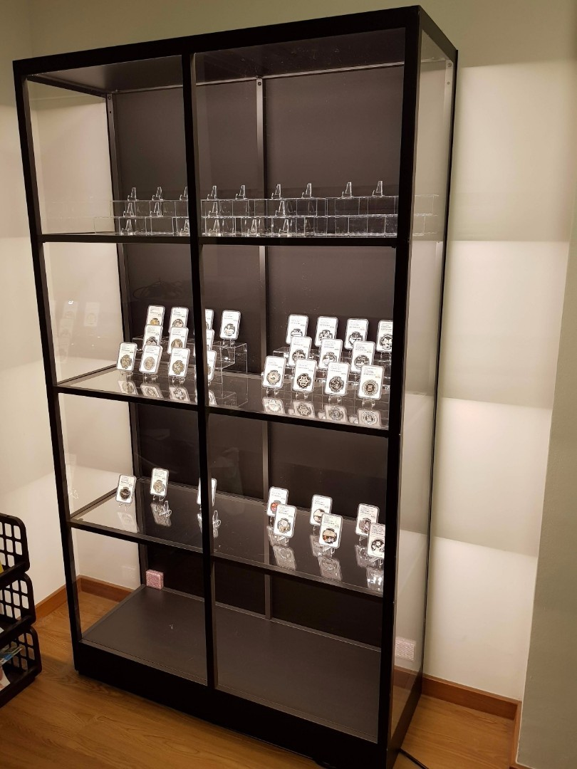 Chezrich Acrylic & Glass Display Cabinet, Furniture & Home Living ...