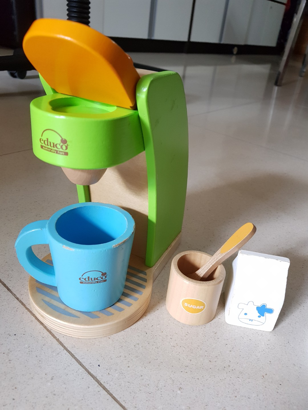 Educo Natural Wood Coffee Maker Set