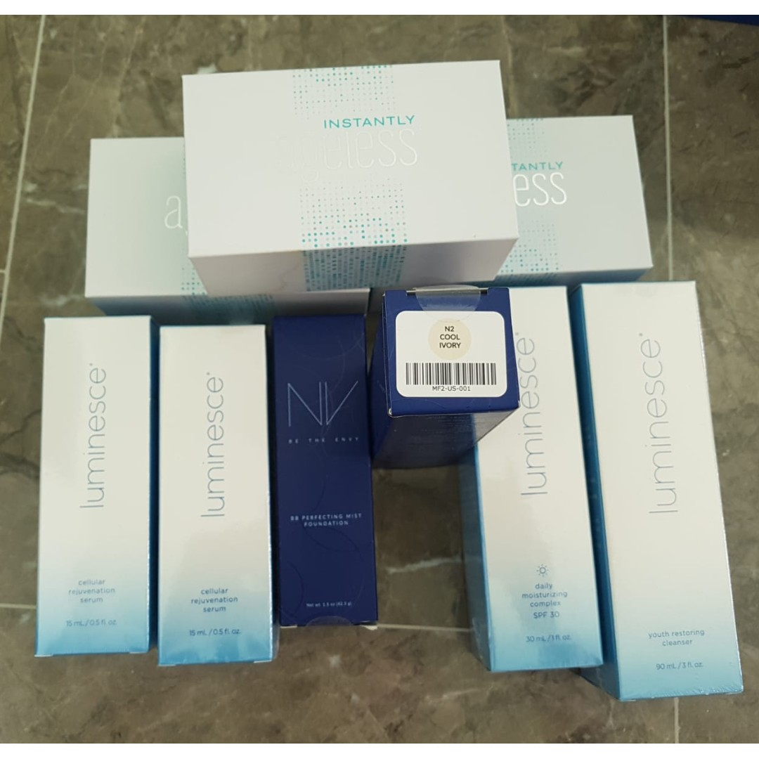 Eyebag instant removal, NV foundation cream, Moisturiser, cleanser