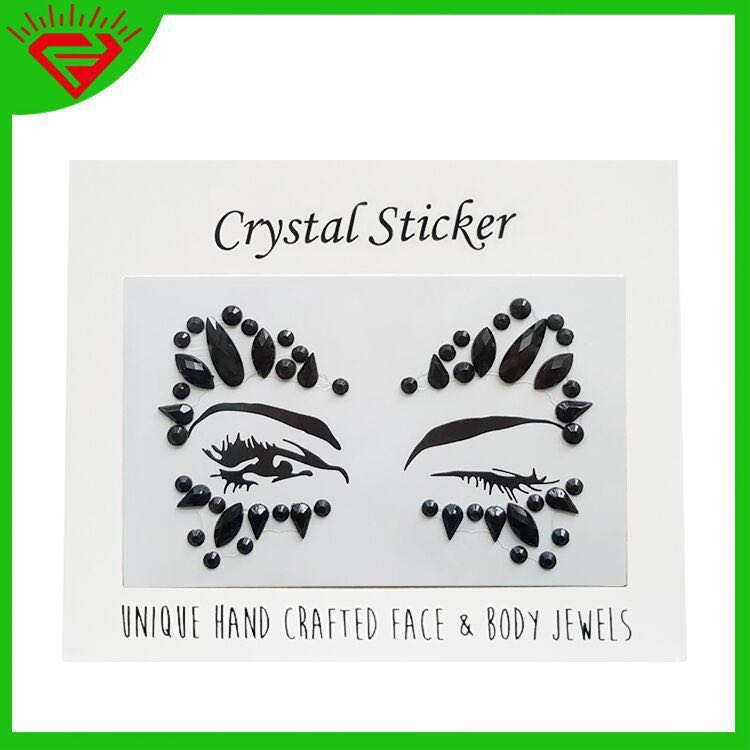 24ab1f2d2 Face crystal gem stickers PO jewel Glitter acrylic adhesive eyes ...