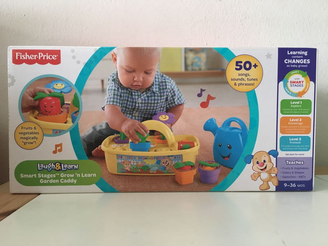 1f86c065e5fb Fisher-Price Laugh & Learn Smart Stages Grow 'n Learn Garden Caddy, Babies &  Kids, Toys & Walkers on Carousell