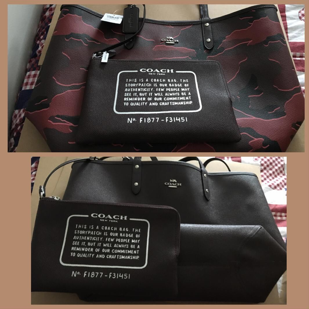 96eea9972d Guaranteed authentic Coach 2 in 1 reversible bag with free pouch ...
