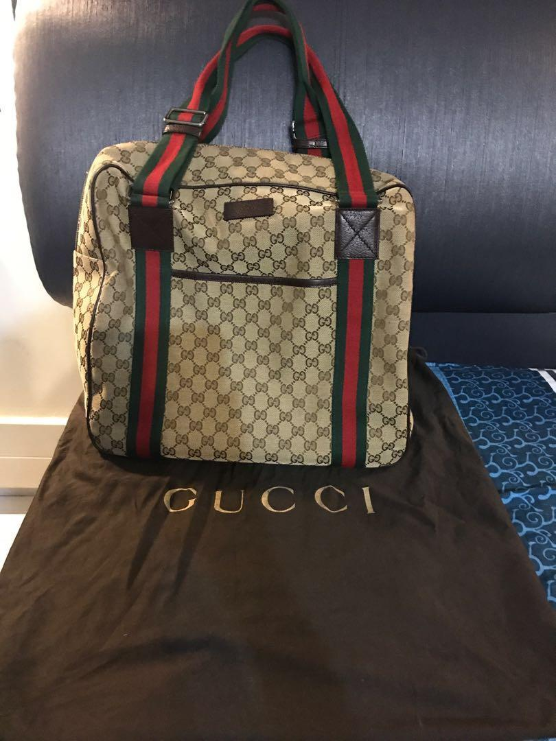 16ff85b81a570 Gucci Travelling Bag, Luxury, Bags & Wallets, Handbags on Carousell