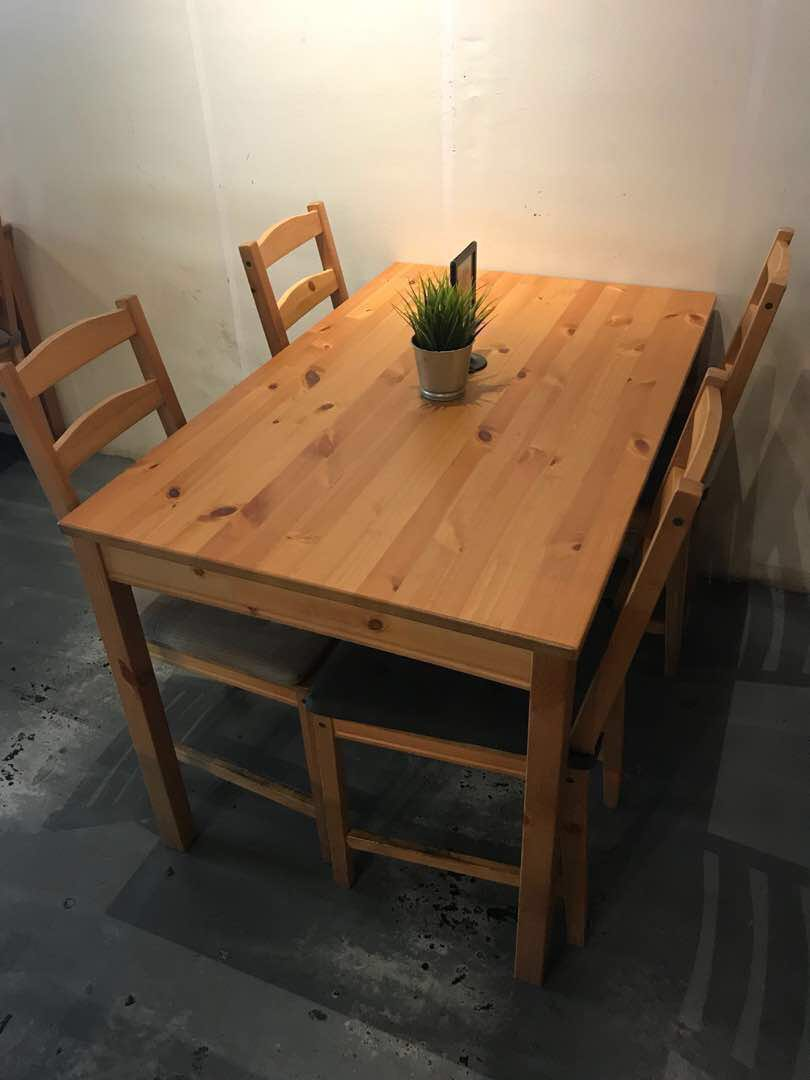Ikea Jokkmokk Table Chairs Rm200 Left One Set Only Home Furniture On Carou