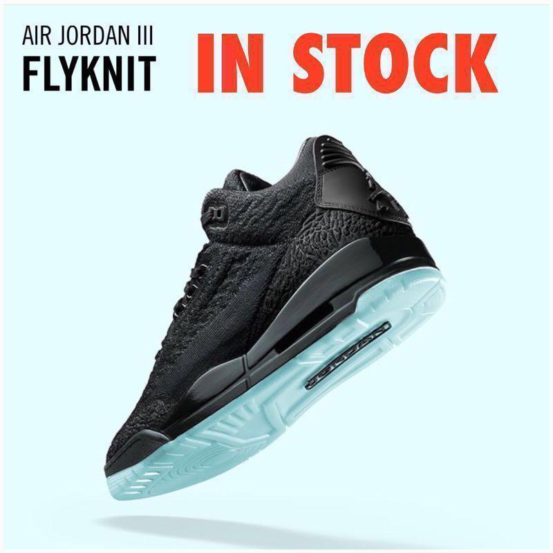 7ada69057e18 In Stock Men s Air Jordan III Retro Flyknit Black