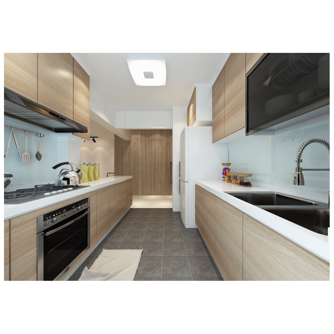 Promo Kitchen Cabinet Package Home Services Renovations On Carousell