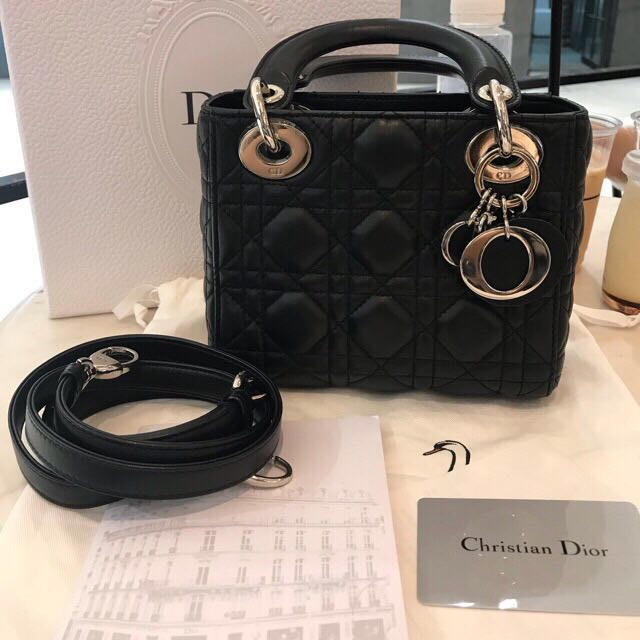 5be31dcc6db9 Lady Dior mini full package authentic bag