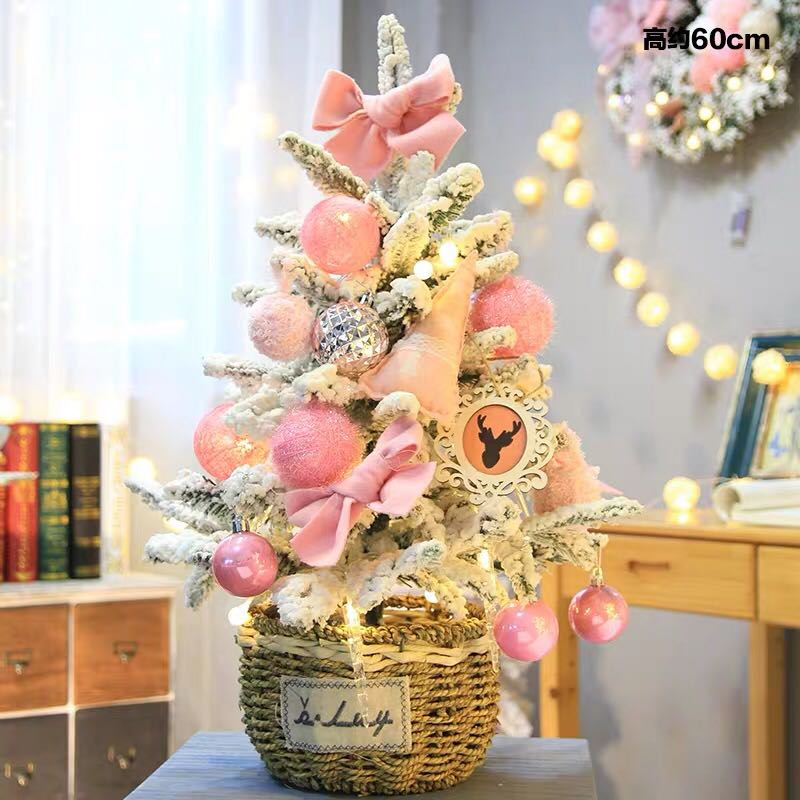 Lovely Pink Silver Gold Blue Christmas Tree 60cm