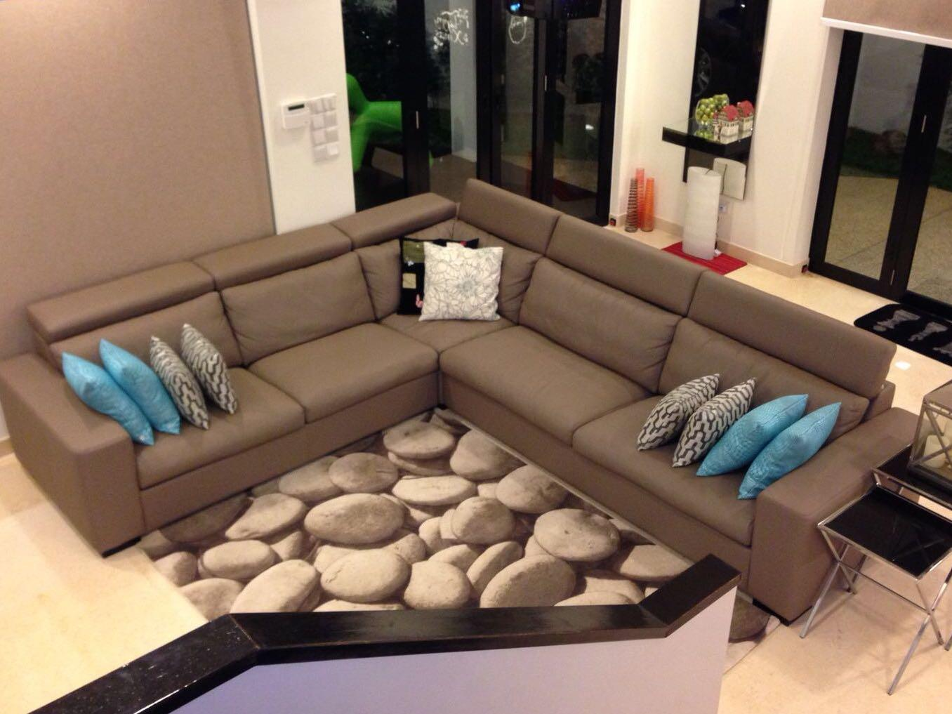 Fine L Shape Leather Sofa With Adjustable Headrest Furniture Download Free Architecture Designs Grimeyleaguecom