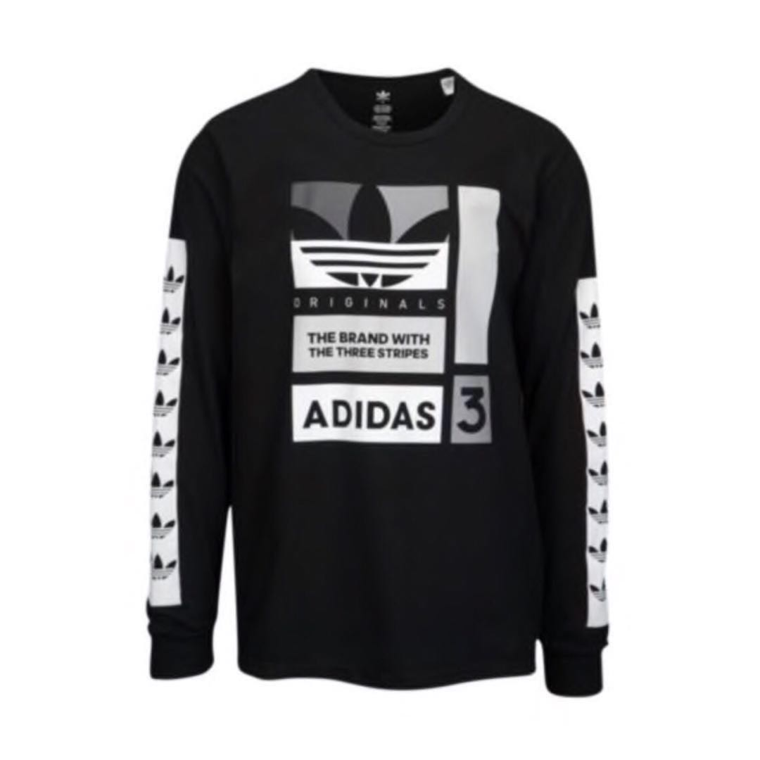 3c0dcb56 Men's ADIDAS ORIGINALS GRAPHIC LONG SLEEVE T-SHIRT|100% COTTON, Sports,  Sports Apparel on Carousell