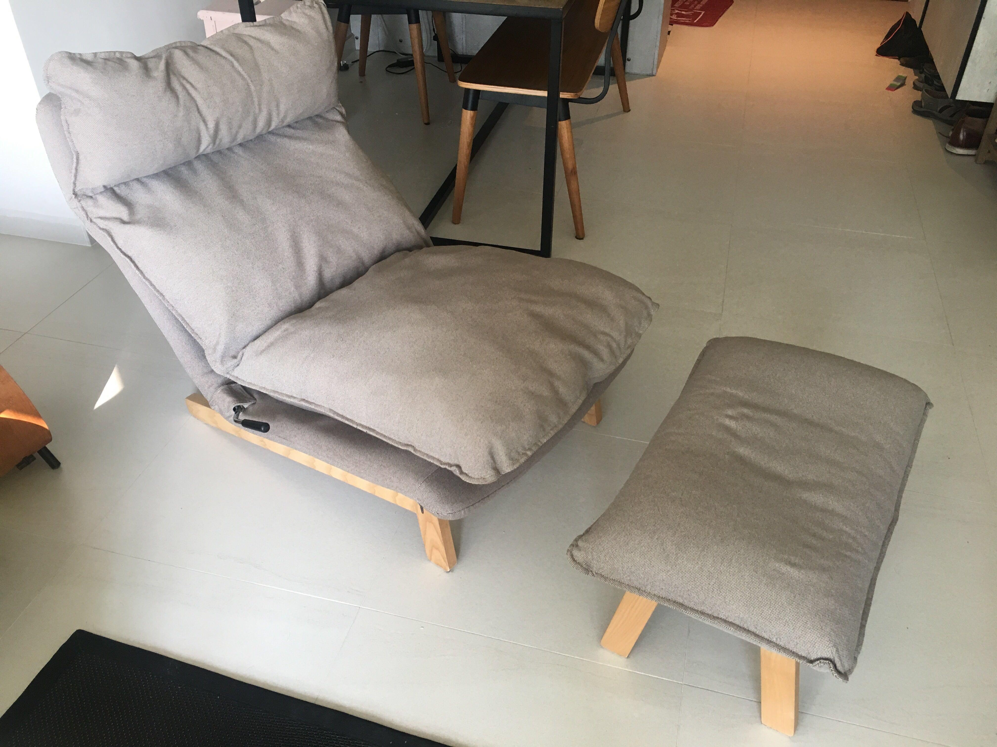 Tremendous Muji Highback Reclining Sofa With Ottoman Furniture Sofas Evergreenethics Interior Chair Design Evergreenethicsorg