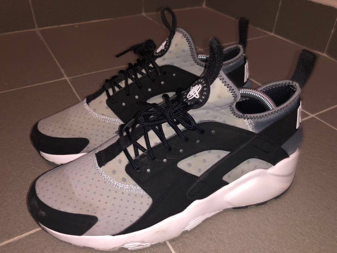 c175499209f5 Nike Air Huarache Run Ultra WolfGrey Black White (Fire Sale)