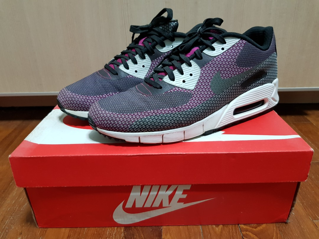 info for 59436 29668 US9.5 Nike Air Max Lunar 90 JCRD (BLK BRIGHT MAGENTA), Men s Fashion,  Footwear, Sneakers on Carousell
