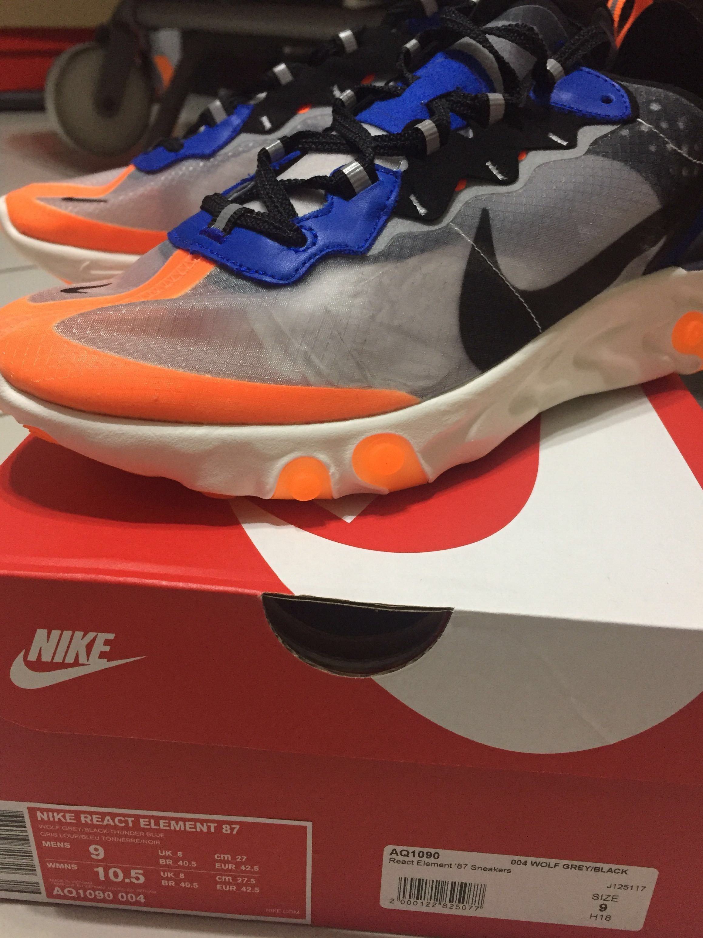 buy popular e13d9 b4eb1 nike react element 87 orange, Men s Fashion, Footwear, Sneakers on Carousell