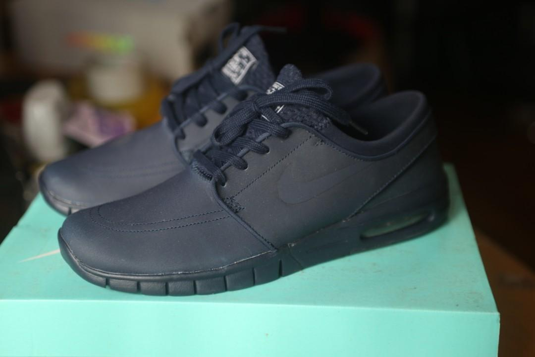 Nike SB Stefan Janoski Max Leather Obsidian | SneakerFiles