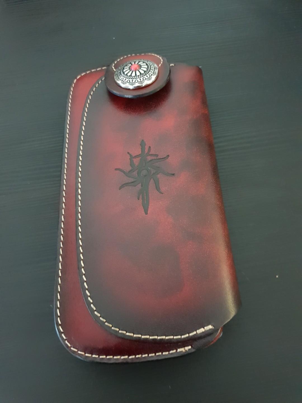 Pre order item arrived Genuine Leather Biker Long Wallet