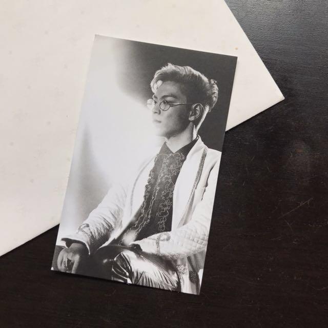 RARE Official Big Bang T.O.P Photo Card