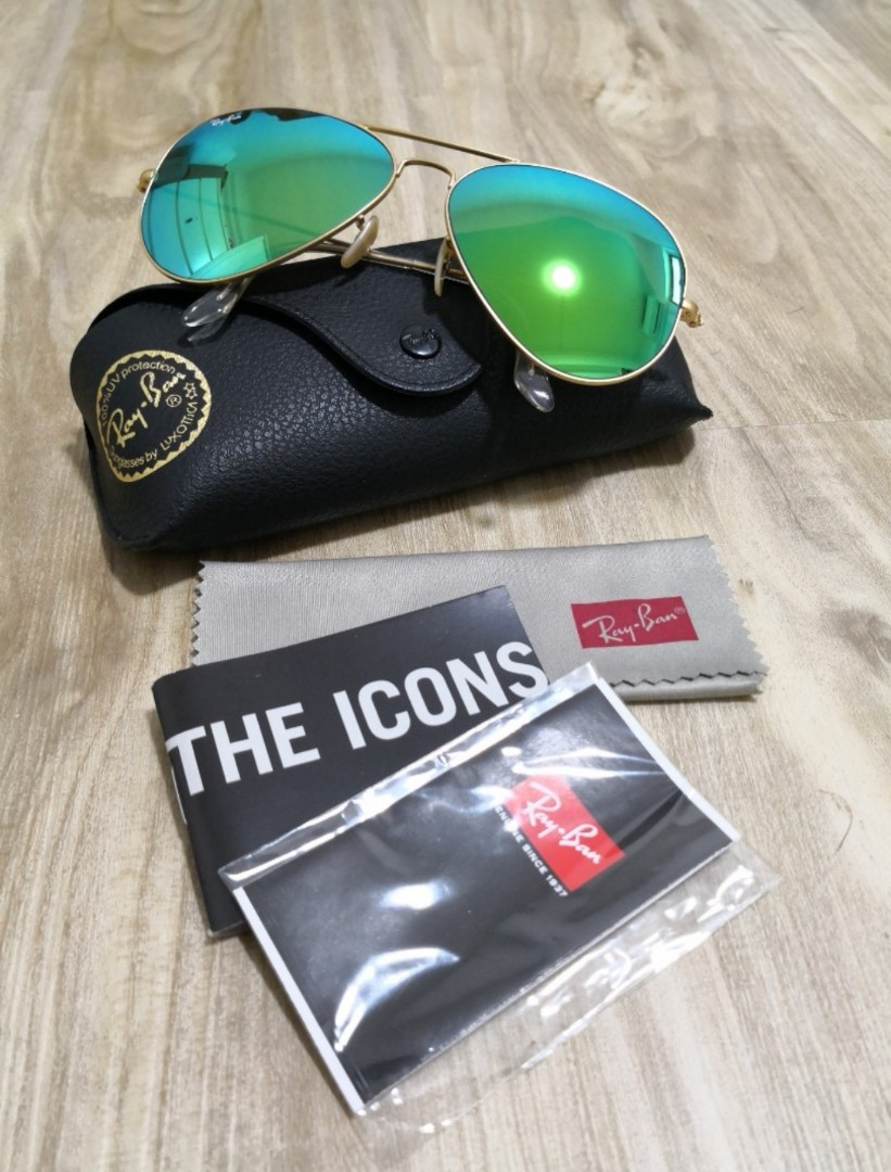 b224f2af4c6e Rayban Aviator Flash Lenses Sunglasses, Men's Fashion, Accessories, Eyewear  & Sunglasses on Carousell