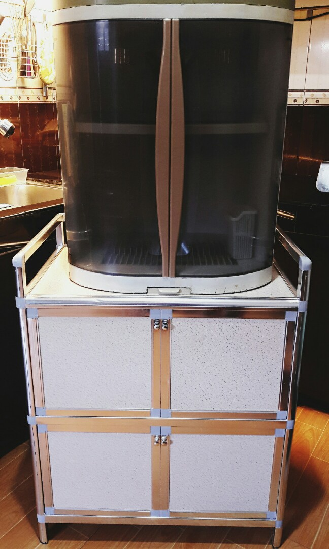 Picture of: Sanyang Aluminum Kitchen Storage Cabinet Home Furniture On Carousell