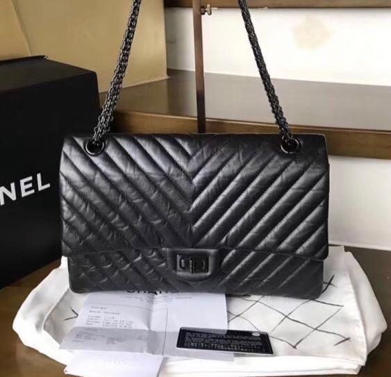 ea5297dface7 So black chevron reissue 226, Luxury, Bags & Wallets, Handbags on ...