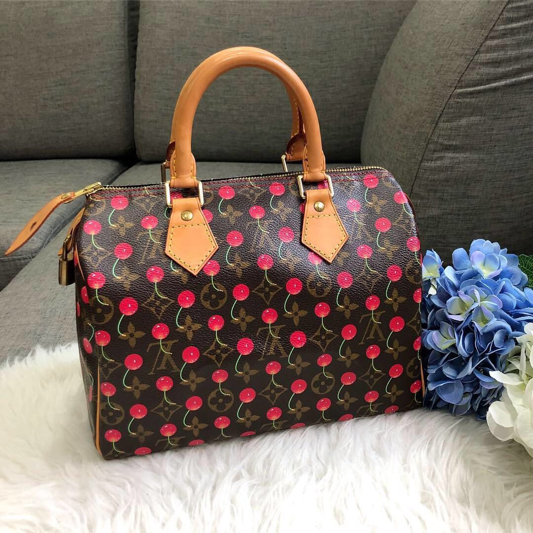 d08f7da7bfc1ca ❌SOLD!❌ Limited edition LV Speedy 25 Cherries Cerises in Monogram ...