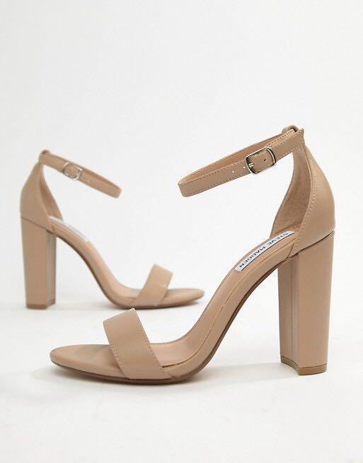 4b1cab6bf0 Steve Madden nude strappy heels , Women's Fashion, Shoes, Heels on ...