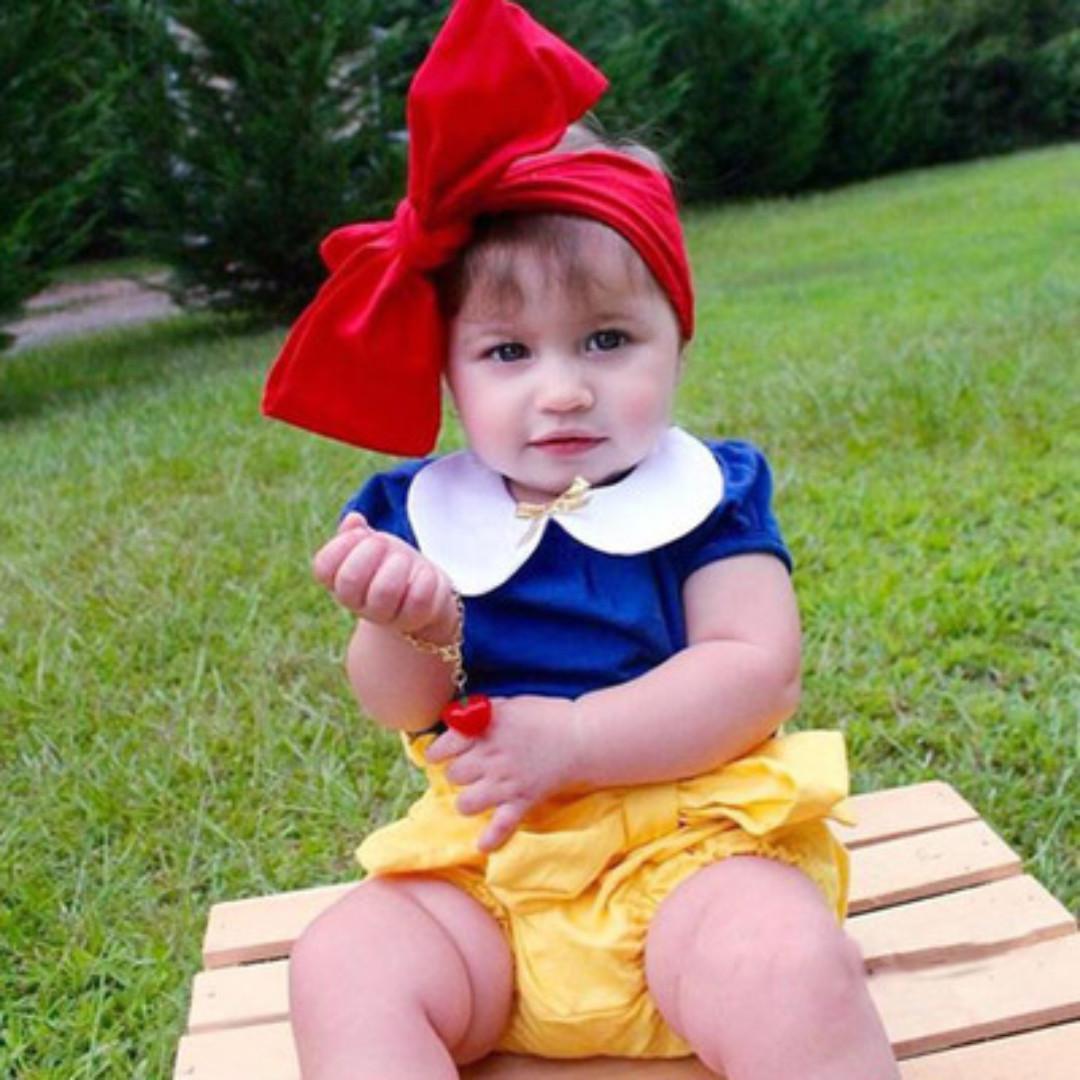 Stock 2pc Premium Snow White Blue Puff Sleeves Blouse Top