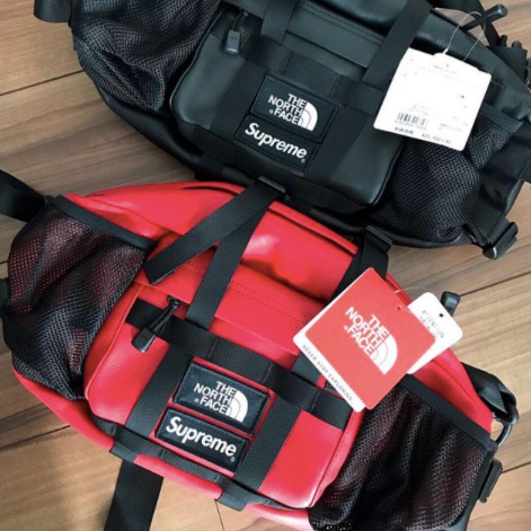 9c855654c Supreme The North Face Leather Waist Bag, Men's Fashion, Bags ...