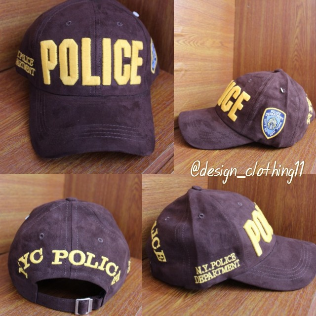 Topi Baseball Import Police Departement New York - Brown, Fesyen Pria, Aksesoris, Topi di Carousell
