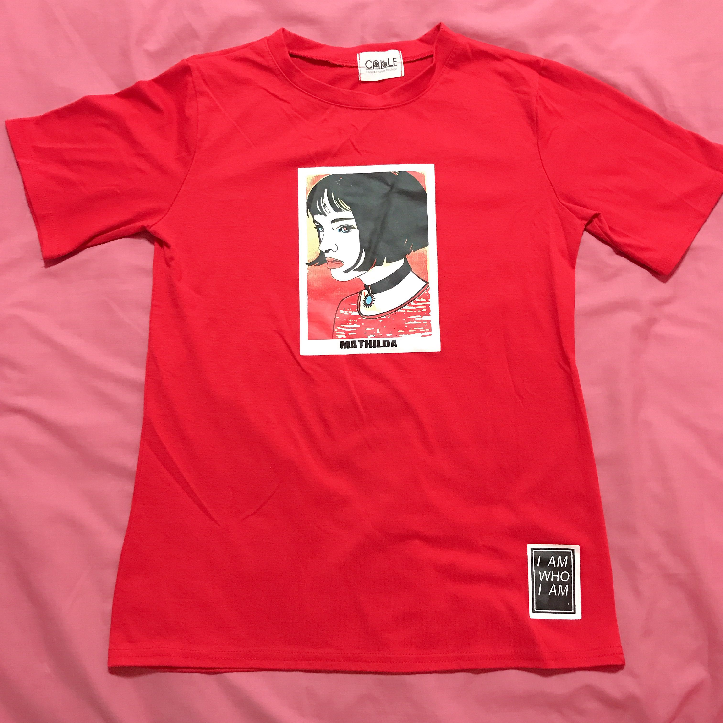 541c1b058 ulzzang red mathilda tee, Women's Fashion, Clothes, Tops on Carousell