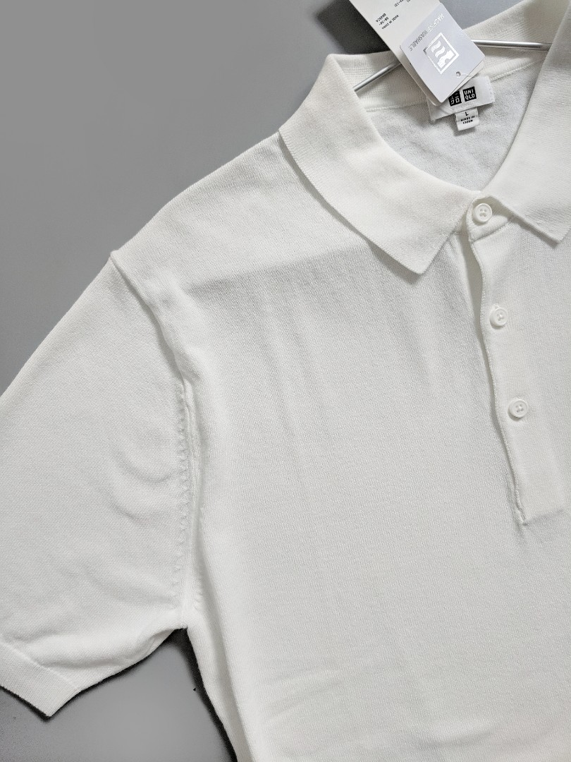 52d69e5a7d Uniqlo Men's Off-white Soft Knit Polo Tee, Men's Fashion, Clothes, Tops on  Carousell