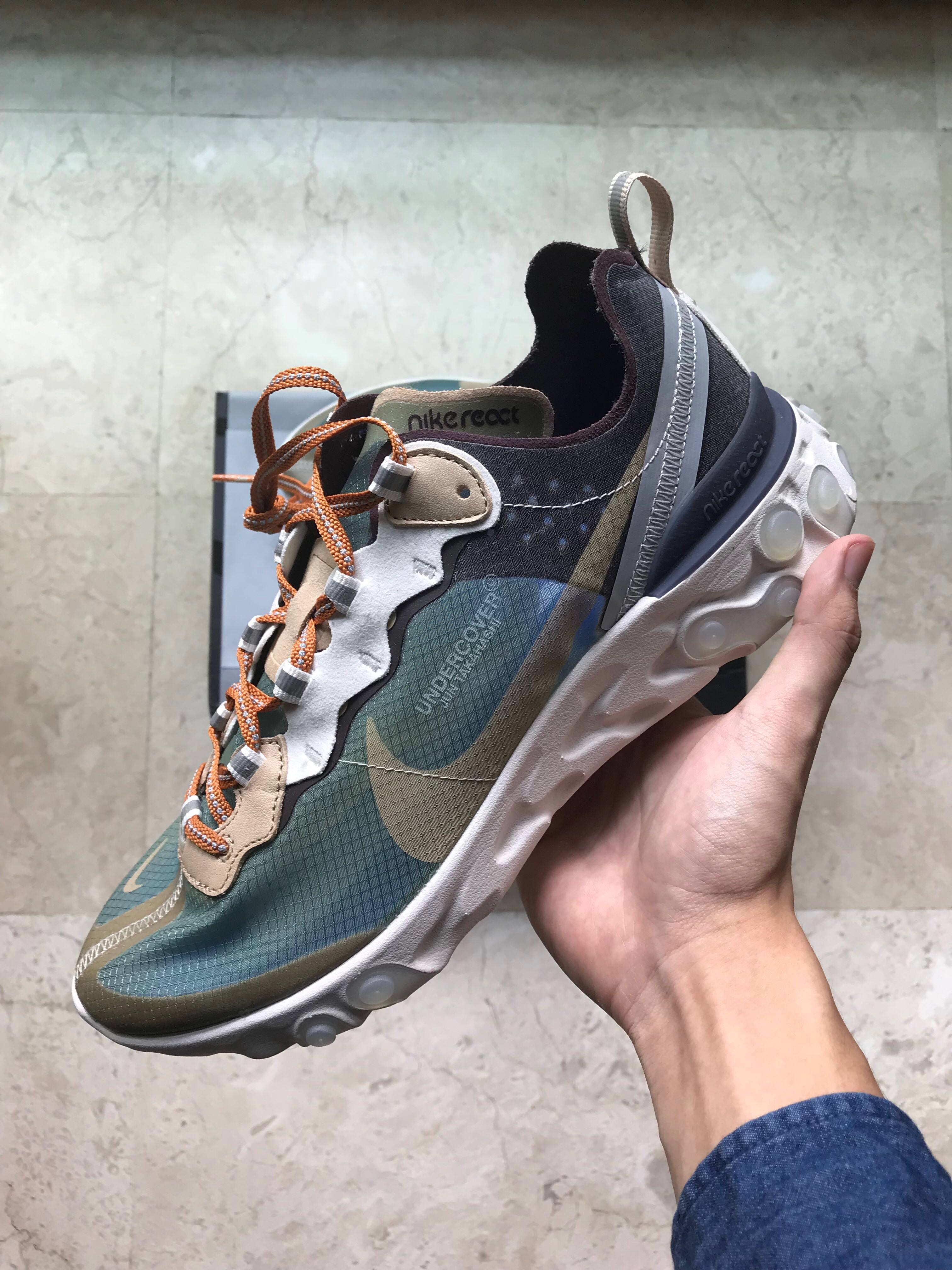 a49854291 US 9 Green Mist Undercover x Nike React Element 87