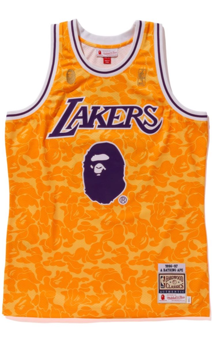 check out d4218 09df7 WTS Bape Mitchell & Ness LAKERS JERSEY, Men's Fashion ...