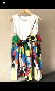 🈹New Korea 全新韓國幾何圖案假兩件連身裙pattern dress one piece