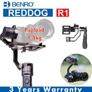 BENRO REDDOG R1 Handheld Gimbal 3-Axis Stabilizer For Mirrorless Camera 1.8kg Payload