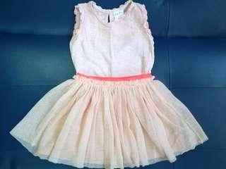 Zara Girls Tulle Skirt and Little Miss top
