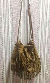 REPRICED H&M Fringed Bag