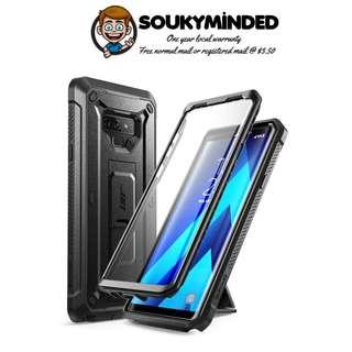 [IN-STOCK] Samsung Galaxy Note 9 Case, SUPCASE Full-Body Rugged Holster Case with Built-in Screen Protector & Kickstand for Galaxy Note 9 (2018 Release), Unicorn Beetle Pro Series - Retail Package (Black)
