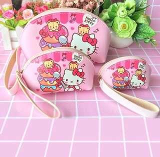 🚚 3-in-1 Hello Kitty Pouch