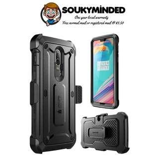 [IN-STOCK] OnePlus 6 Case, SUPCASE [UB PRO] Full-Body Rugged Drop-Proof Case with Built-in Screen Protector and Rotating Belt Clip Holster for OnePlus 6 Case 2018 Release (Black)