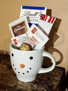 Tea and chocolate Mug Gift basket