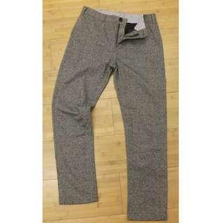 🚚 BEAMS 類Harris Tweed 羊毛混紡灰色休閒褲